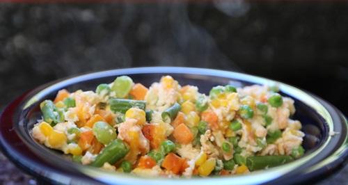 zalm ei en groente