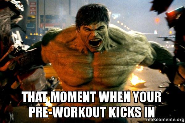 zelf pre workout maken