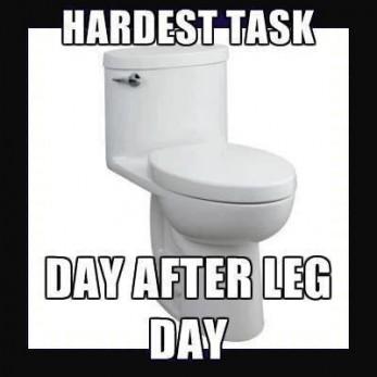 De wc na leg day